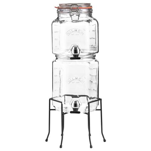 KILNER Getränkedispenser-Set, 2 & 3 Liter