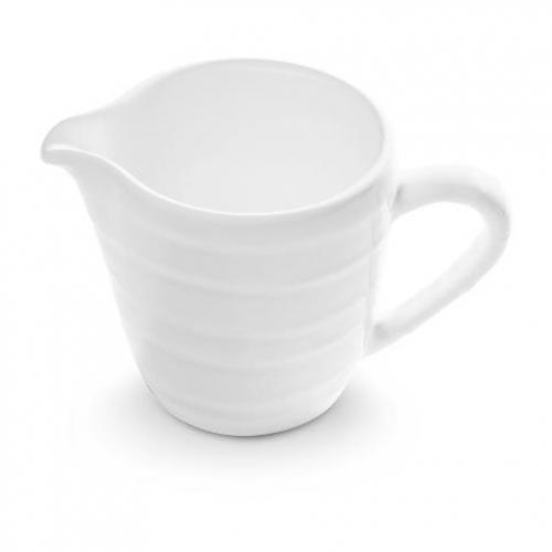 """Gmundner Keramik """"Weissgeflammt"""" Milchgießer Gourmet 0,2L"""