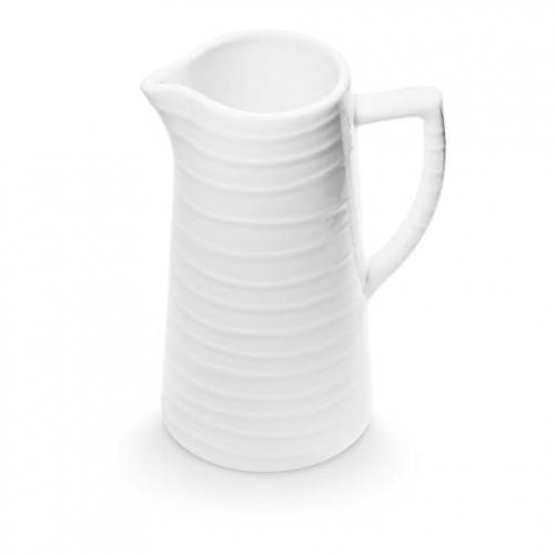"""Gmundner Keramik """"Weissgeflammt"""" Wasserkrug 1,2L"""