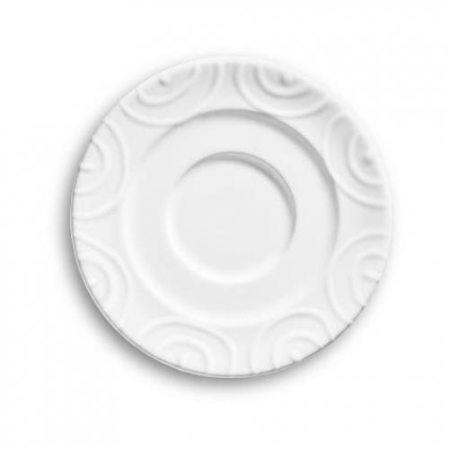 "Gmundner Keramik ""Weissgeflammt"" Unterteller Kaffee Gourmet Ø 16 cm"