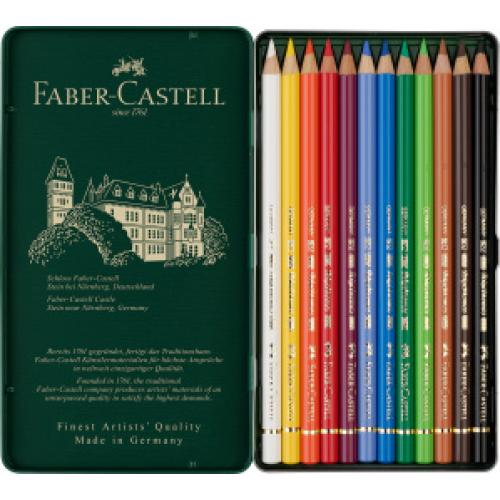 FABER CASTELL 110012 - Polychromos Farbstift, 12er Metalletui