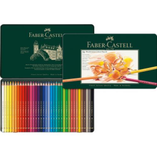 FABER CASTELL 110036 - Polychromos Farbstift, 36er Metalletui