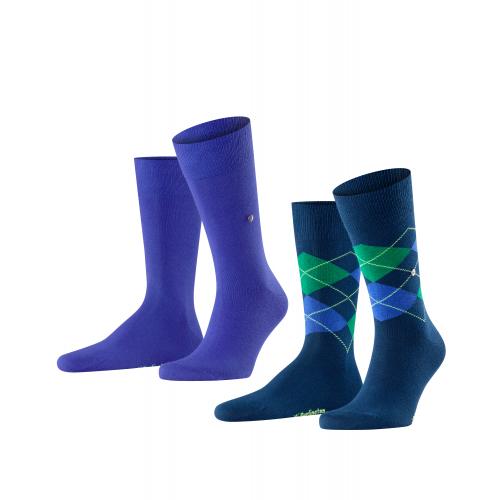 "Burlington Hr. Socken ""Everyday Mix"", 2er Pack (Blue/Marine)"