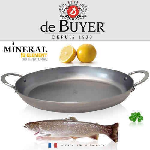 "DE BUYER ""Mineral B Element"" ovale  Eisenpfanne B Bois Ø 36 cm"