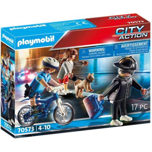 PLAYMOBIL 70573 - Polizei-Fahrrad: Verfolgung des Taschendiebs