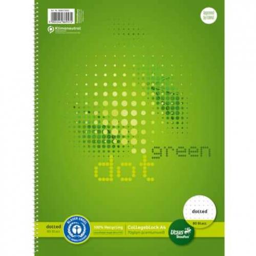 URSUS Collegeblock A4 80 Blatt dotted URSUS 70g punktkariert