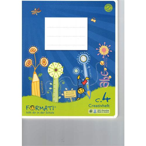 URSUS Formati Creativheft C.4, liniert, weiß