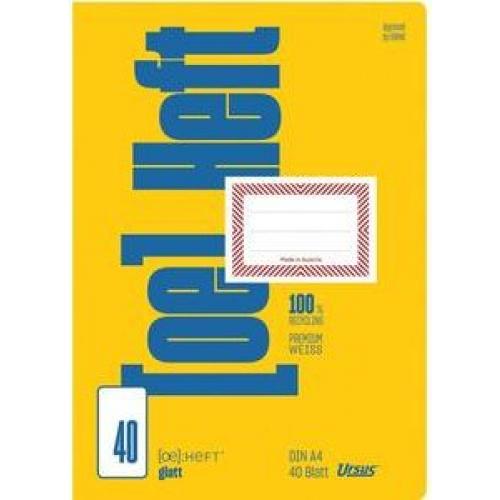 URSUS Heft A4, glatt, 40 Bl.