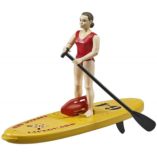 BRUDER bworld Life Guard mit Stand up Paddle
