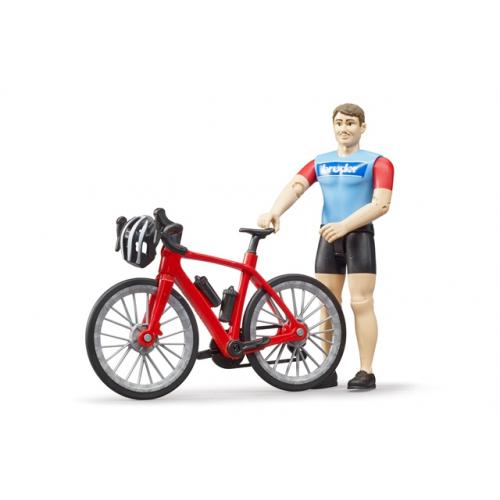 BRUDER bworld Rennrad mit Radfahrer