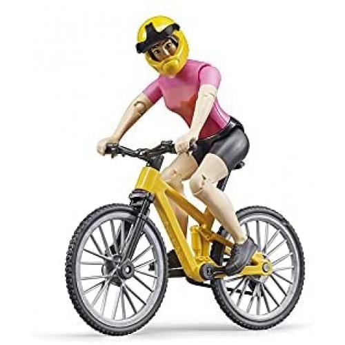 BRUDER bworld Mountainbike mit Radfahrerin