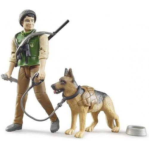 BRUDER bworld Förster mit Hund und Ausrüstung