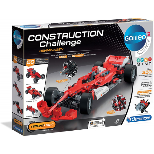 CLEMENTONI Construction Challenge -  Rennwagen