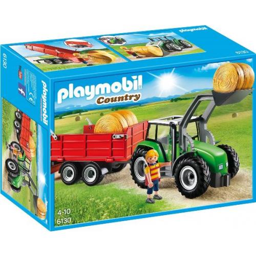 PLAYMOBIL 6130 - Großer Traktor mit Anhänger