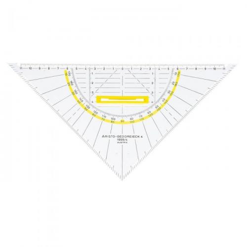ARISTO Geodreieck® 25 cm, Griff lösbar, Facette an 3 Seiten, Tuschenoppen