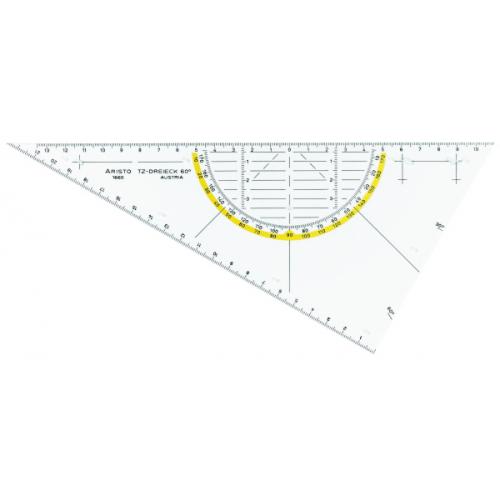 ARISTO TZ-Dreieck 26 cm, ungleichschenklig 60°, ohne Facette, Tuschenoppen