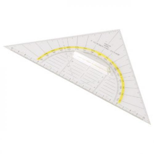 ARISTO Geodreieck® 22.5 cm, mit Griff, Facette an Hypotenuse, Tuschenoppen