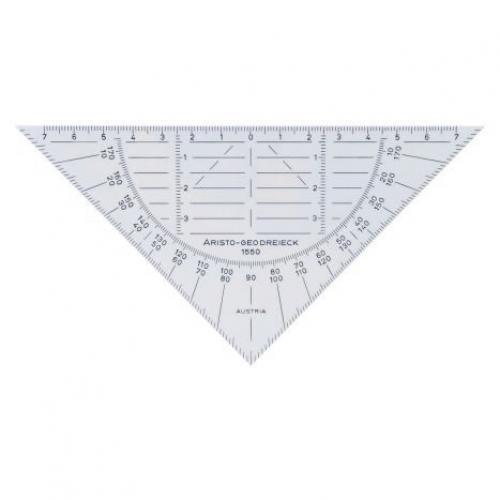 ARISTO Geodreieck® 16 cm, transparent, extrem biegsam, ohne Facette