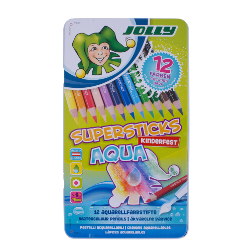 JOLLY Buntstift Supersticks Aqua 12 Farben