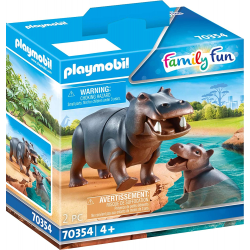 PLAYMOBIL 70354 - Flußpferd mit Baby