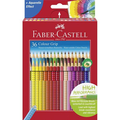 FABER CASTELL 112442 - Colour Grip Buntstift, 36er Kartonetui
