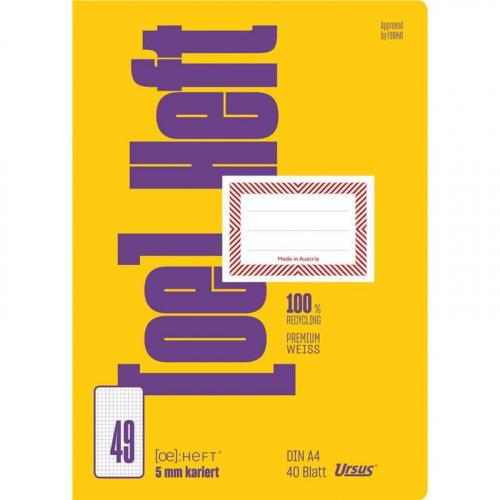URSUS [OE] Heft FX49 / OE49 A4 40 Blatt 5mm kariert