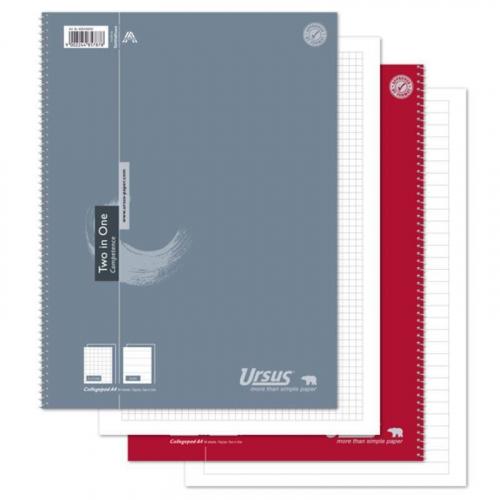 URSUS Colleblock Two-in-One A4 80 Blatt kariert/liniert