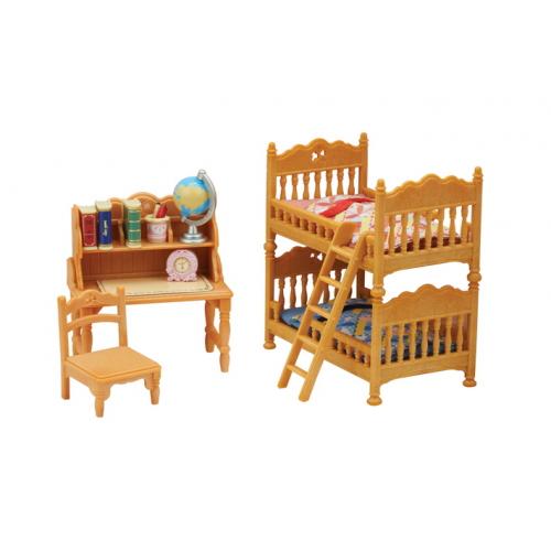 SYLVANIAN FAMILIES - Landhaus Kinderzimmer mit Stockbett
