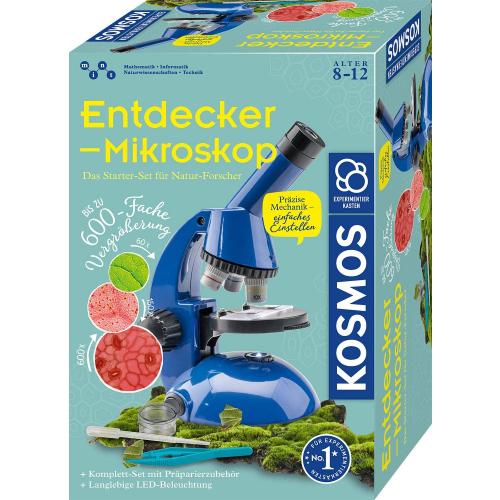 KOSMOS Entdecker-Mikroskop - Das Starter-Set für Natur-Forscher, Experimentierkasten