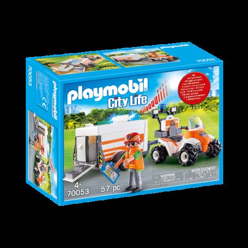PLAYMOBIL 70053 - Quad mit Rettungsanhänger