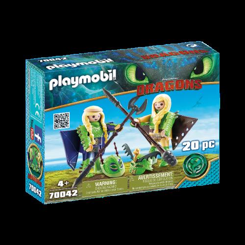 PLAYMOBIL 70042 - Raffnuss und Taffnuss mit Fluganzug