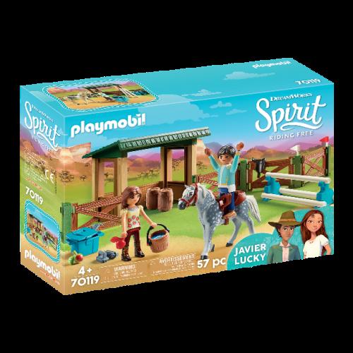PLAYMOBIL 70119 - Reitplatz mit Lucky & Javier