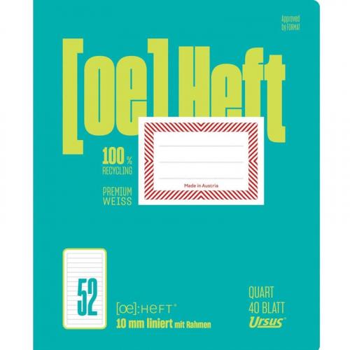 URSUS Heft Quart, liniert, 40 Bl.