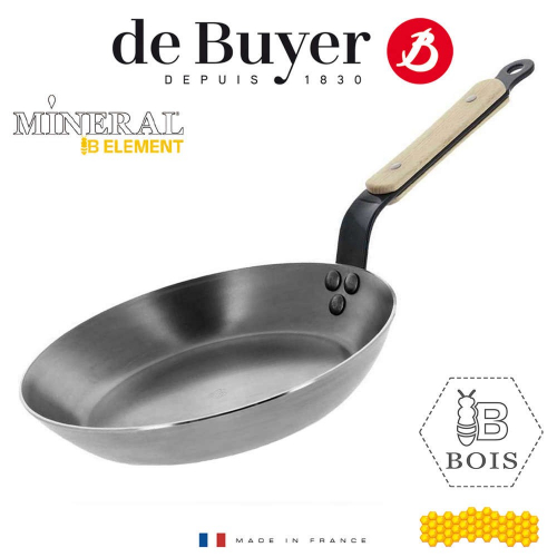 "DE BUYER ""Mineral B Element"" Eisenpfanne B Bois Ø 26 cm"
