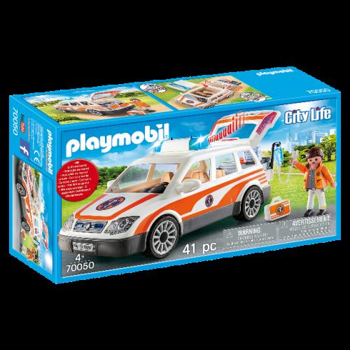 PLAYMOBIL 70050 - Notarzt-PKW mit Licht und Sound