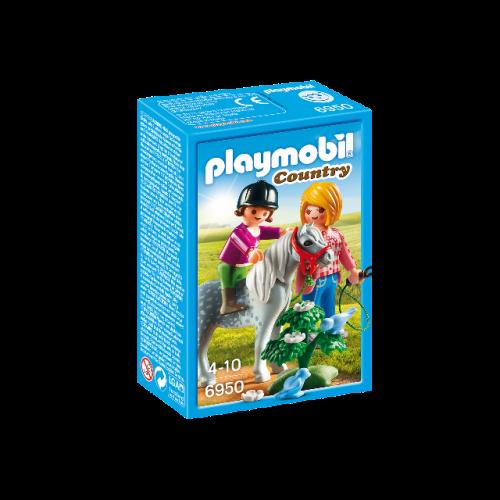 PLAYMOBIL 6950 - Spaziergang mit Pony