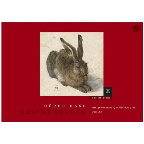 Edition Dürer Hase Zeichenblock A3, gekörnt, 18 Blatt