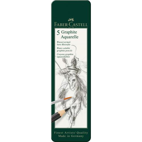 Faber-Castell 117805-5 Aquarellbleistifte Graphite, 5-teilig