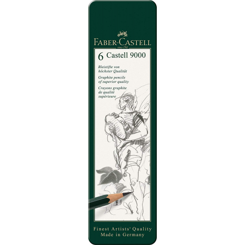 Faber-Castell 119063 Castell 9000 Bleistift-Set 6-teilig