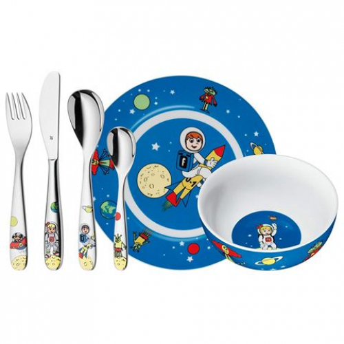 WMF Kinder-Set Willy Mia Fred Space, 6-tlg