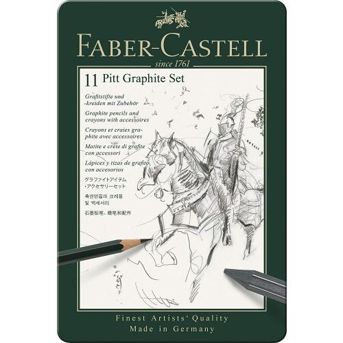 Faber-Castell 112972 Pitt Graphite Set, 11-teilig