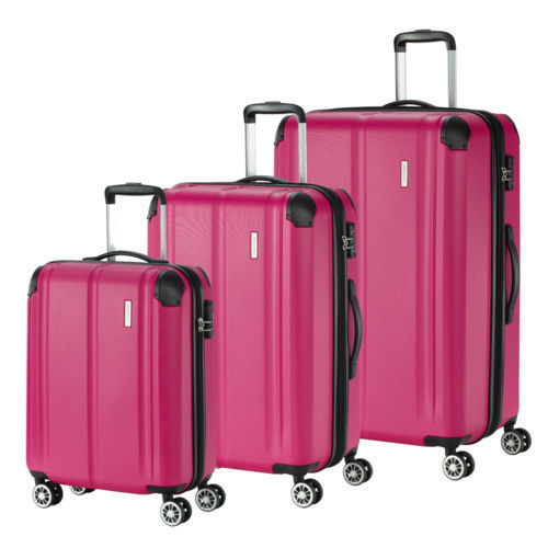 TRAVELITE 3er Trolley Set City (Beere)