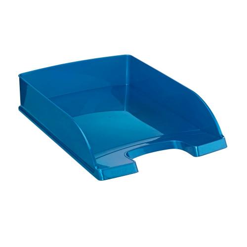"LEITZ Plus Briefkorb ""WOW"" DIN A4 (blau)"