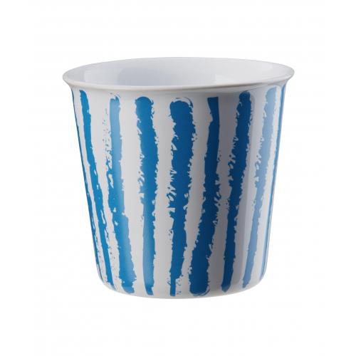 "ASA  Becher ""Lungo"" Coppetta , 250 ml (blue stripes)"