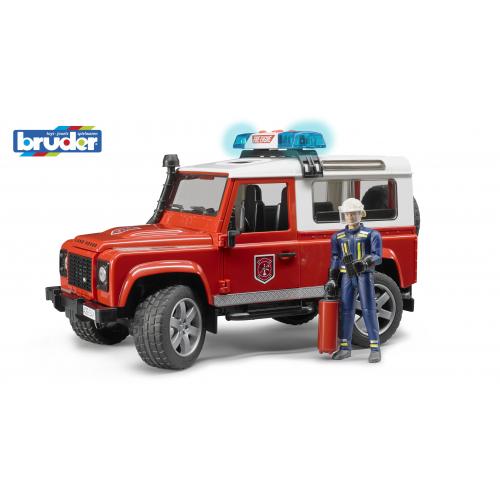 BRUDER Land Rover Defender Station Wagon Feuerwehr-Einsatzfahrzeug