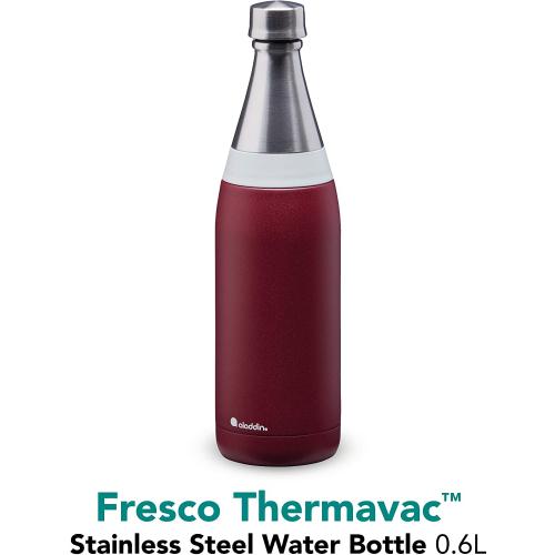 ALADDIN Fresco Thermavac isolierte Edelstahl-Trinkflasche, 0,6 Liter (burgund)