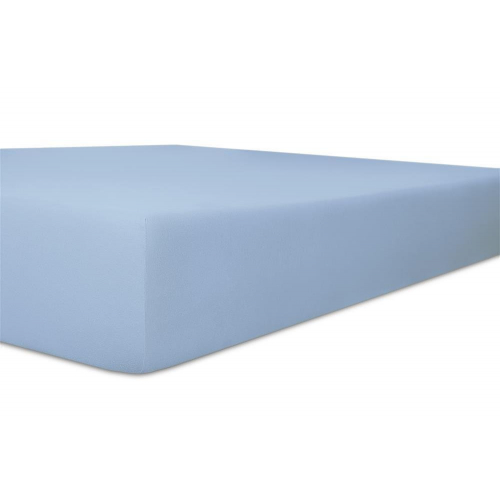 Kneer 50 Fein-Jersey Stretch-Betttuch 90x200cm eisblau