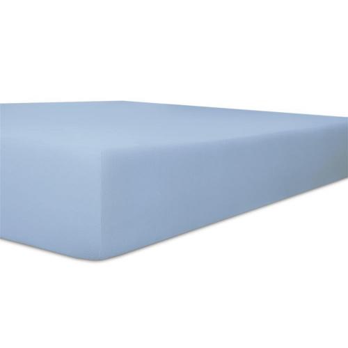 KNEER 50 FEIN-JERSEY STRETCH-BETTTUCH  180x200cm eisblau