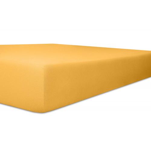 Kneer 50 Fein-Jersey Stretch-Betttuch 90x200cm gelb