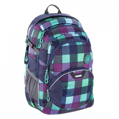 "COOCAZOO Schulrucksack ""ScaleRale"" größenverstellbar (Green Purple District)"